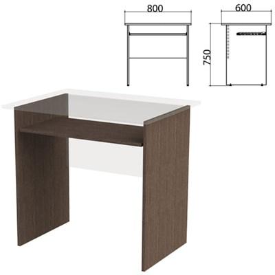 "Каркас к столу компьютерному ""Канц"" 800х600х750 мм, цвет венге, СК25.16.2 - фото 428114"
