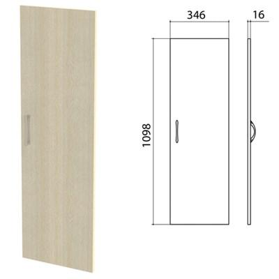 "Дверь ЛДСП средняя ""Канц"" 346х16х1098 мм, цвет дуб молочный, ДК36.15 - фото 428139"