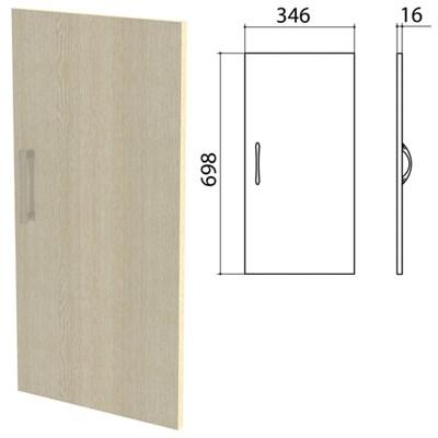 """Дверь ЛДСП низкая """"Канц"""" 346х16х698 мм, цвет дуб молочный, ДК32.15 - фото 428141"""