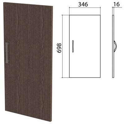 "Дверь ЛДСП низкая ""Канц"" 346х16х698 мм, цвет венге, ДК32.16 - фото 428142"