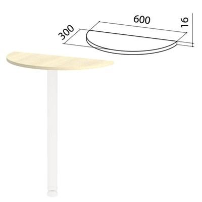 "Стол приставной полукруг ""Канц"", 600х300х750 мм, БЕЗ ОПОРЫ, цвет дуб молочный, ПК35.15 - фото 428161"
