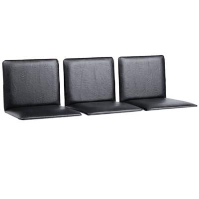 """Сиденья для кресла """"Терра"""", комплект 3 шт., кожзам черный, каркас серебристый - фото 428180"""