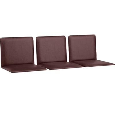 """Сиденья для кресла """"Терра"""", комплект 3 шт., кожзам коричневый, каркас серебристый - фото 428182"""