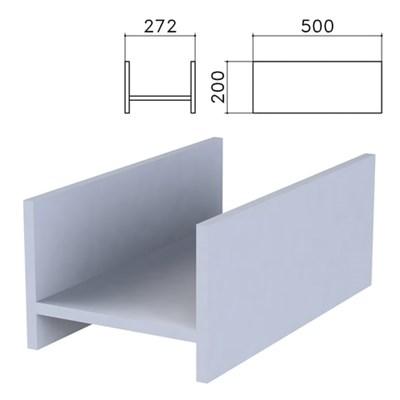 """Подставка под системный блок """"Бюджет"""", 272х500х200 мм, серая, 402669-030 - фото 428224"""