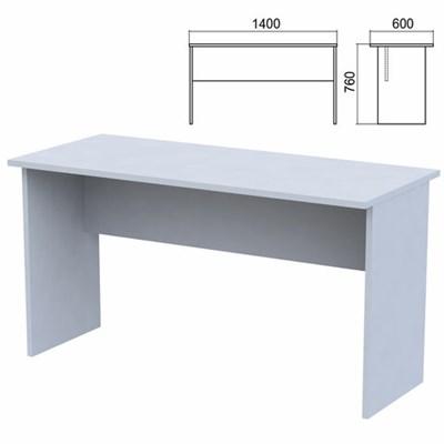 """Стол письменный """"Арго"""", 1400х600х760 мм, серый - фото 428338"""