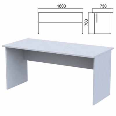 """Стол письменный """"Арго"""", 1600х730х760 мм, серый - фото 428353"""