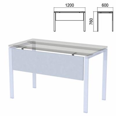 "Царга к столам на металлокаркасе ""Арго"", шириной 1200 мм, серый - фото 428397"