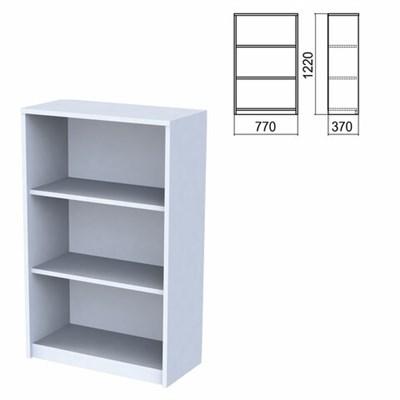 "Шкаф (стеллаж) ""Арго"", 770х370х1220 мм, 2 полки, серый - фото 428447"