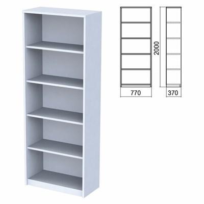 "Шкаф (стеллаж) ""Арго"", 770х370х2000 мм, 4 полки, серый - фото 428452"