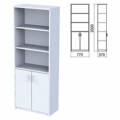 """Шкаф полузакрытый """"Арго"""", 770х370х2000 мм, 2 двери, 4 полки, серый - фото 428457"""