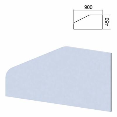 """Экран-перегородка к столам """"Арго"""", шириной 900 мм, серый - фото 462558"""