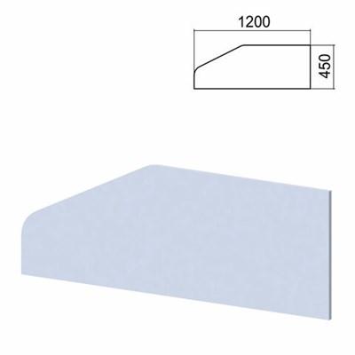 """Экран-перегородка к столам """"Арго"""", шириной 1200 мм, серый - фото 462563"""