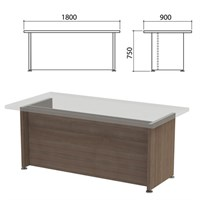 "Каркас стола письменного ""Приоритет"", 1800х900х750 мм, гарбо, К-904, К-904 гарбо"