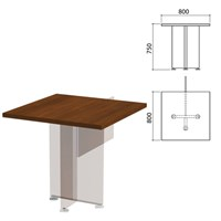 "Столешница стола приставного ""Приоритет"", 800х800х750 мм, гарбо, К-915, К-915 гарбо"