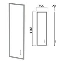 """Дверь СТЕКЛО в алюминиевой рамке """"Приоритет"""", левая, 356х20х1165 мм, БЕЗ ФУРНИТУРЫ (код 640429), К-939"""