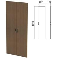 """Дверь ЛДСП высокая """"Этюд"""", комплект 2 шт., 397х18х1870 мм, орех онтарио, 400012-160"""